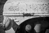 Old Ford Tractor: Black & White Photography