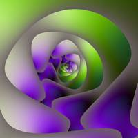 Spiral Labyrinth in Green and Purple