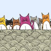 Chanting Cat Nation Art Prints & Posters by Nadiah Najib