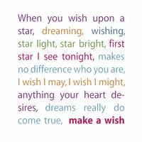 Make a Wish (Rainbow Colors)