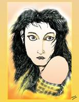 Kate Bush: A Sea of Honey Pen Drawing