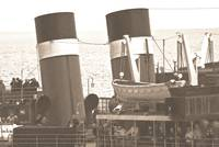 The Waverley Paddle Steamer Funnels Sepia