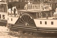 The Waverley Paddle Steamer Paddles Sepia
