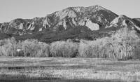 Flatirons Jay Rd View Boulder CO BW