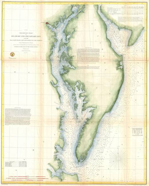 Vintage Chesapeake Bay Map by Vintage Map Store on