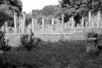 Standing Pillars, Olympia, Greece 1959 by Priscilla Turner