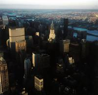 Manhattan, Aerial View, Sunset