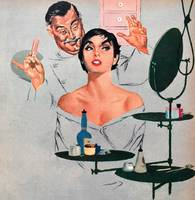 Illustration from a women's magazine, 1956 (color