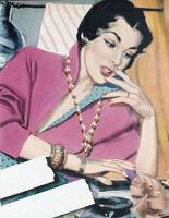 Illustration from a women's magazine, 1950 (color