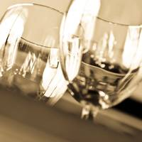 Macro Shot of Wine Glasses