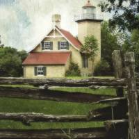 Eagle Bluff Lighthouse by Jacki Mroczkowski