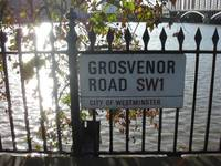 Grosvenor Road Sign SW1