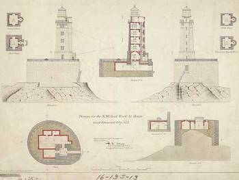 St george reef lighthouse blueprints by alleycatshirts zazzle malvernweather Images