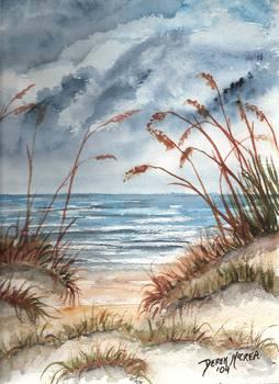 Dunes Seascape Beach Print By Derek Mccrea