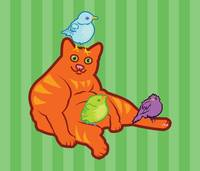 Fat Cat and Birds