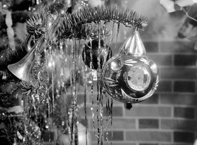 Black And White Christmas.Black And White Christmas Tree By Vintage Map Store
