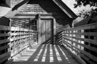Entrance to Carriage House B+W