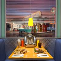"""diner interior"" by TrueVine"