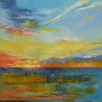 """""""Turquoise Blue Sunset"""" by creese"""