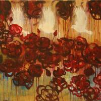 FIre of Roses (Pentecost Painting) Art Prints & Posters by Christen Mattix