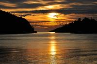 Spring Sunset over Deception Pass Bridge