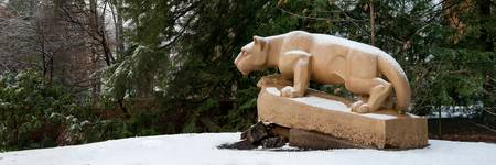 Nittany Lion in Winter Panorama
