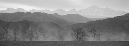 Boulder County Colorado Layers BW