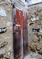 Faded farm door