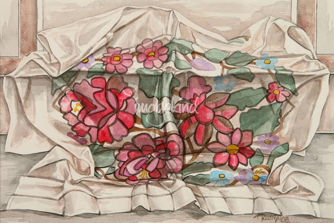 Flowers on a cloth
