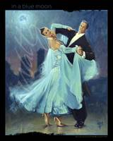 Waltz In a Blue Moon Small Poster