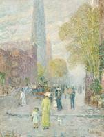 Cathedral Spires, Spring Morning by Childe Hassam