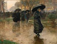 Rain Storm, Union Square by Childe Hassam