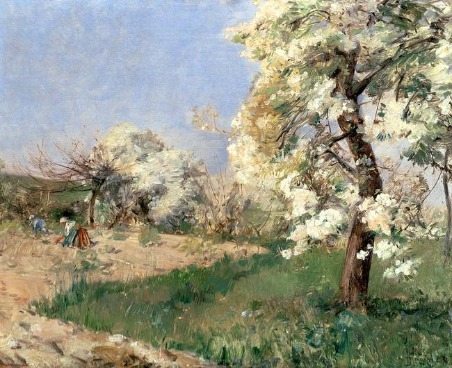 Pear Blossoms, Villiers-de-Bel by Childe Hassam