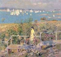 Yachts, Gloucester by Childe Hassam