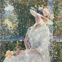Portrait of Miss Weir by Childe Hassam
