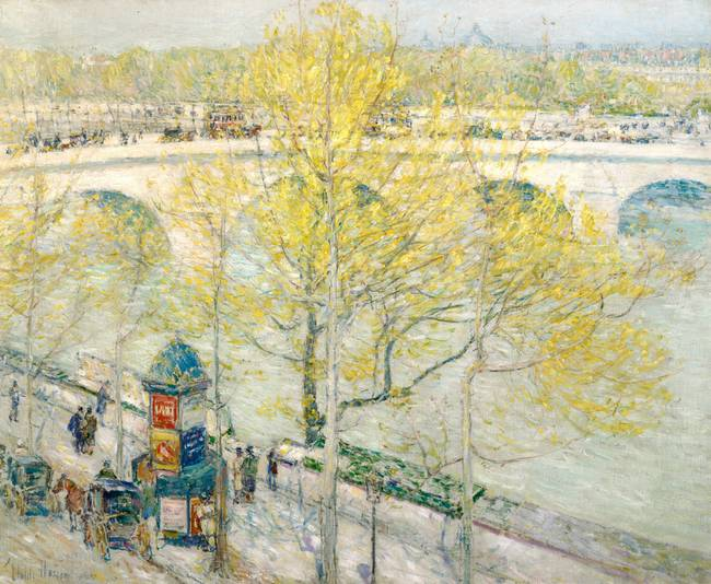 Pont Royal, Paris by Childe Hassam