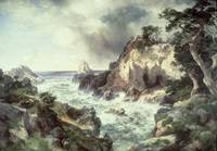 Point Lobos, Monterey, California by Thomas Moran