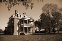 Shirley Plantation Back sepia
