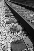 Petersburg Railroad Tracks bw