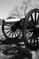Canon at Petersburg National Battlefield bw