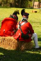 2 Redcoats Sitting on Hay