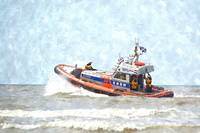 Life Boat on duty in the North Sea, Holland