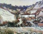 Snow near Falaise, Normandy by Claude Monet