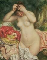 Bather Arranging her Hair by Pierre A. Renoire