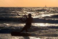 Kitesurfing at Arambol