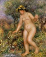 La Source or Gabrielle Nue by Pierre Auguste Renoi