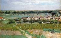 The Village of Maurecourt by Berthe Morisot