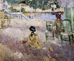 The Beach at Nice by Berthe Morisot