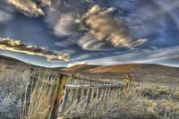 Graveyard Fence and Sunset, Bodie