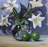 Lilies and Limes Painting